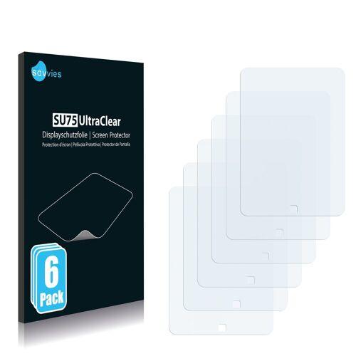 Savvies Schutzfolie »für easypix EasyPad 700«, (6 Stück), Folie Schutzfolie klar