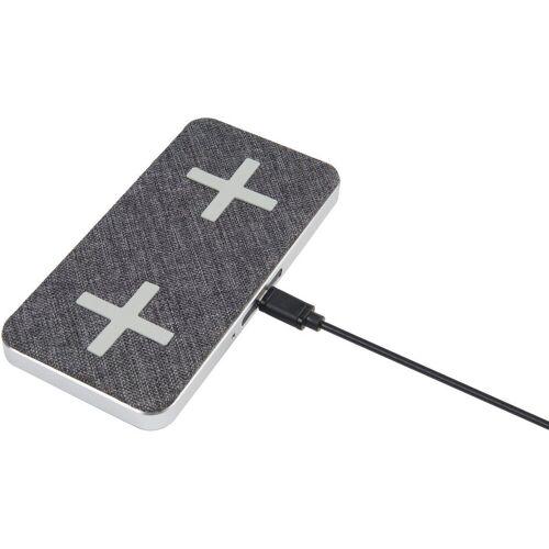 Xtorm Lader »Wireless Dual Charging Pad (QI) - Magic«, Grau-Silber