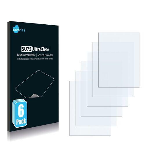 Savvies Schutzfolie »für Yakumo PDA DELTAX 5 BT«, (6 Stück), Folie Schutzfolie klar