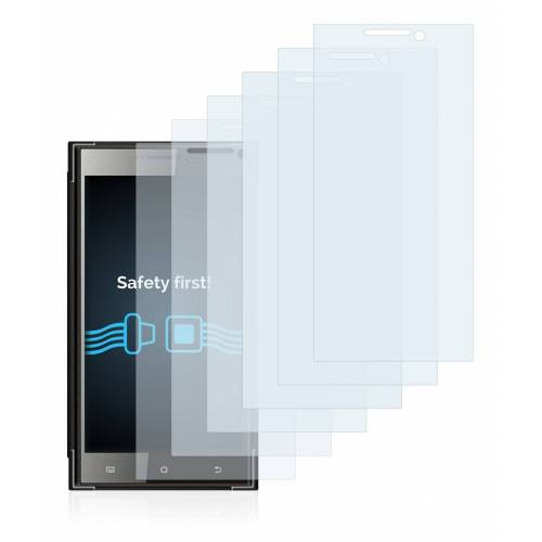 Savvies Schutzfolie »für Karbonn Platinum P9«, (6 Stück), Folie Schutzfolie klar