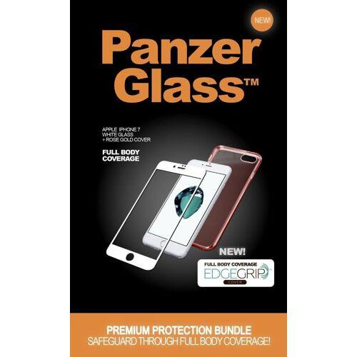 PanzerGlass Schutzglas »Apple iPhone 7/8 TPU Case«, Roségold-Weiß