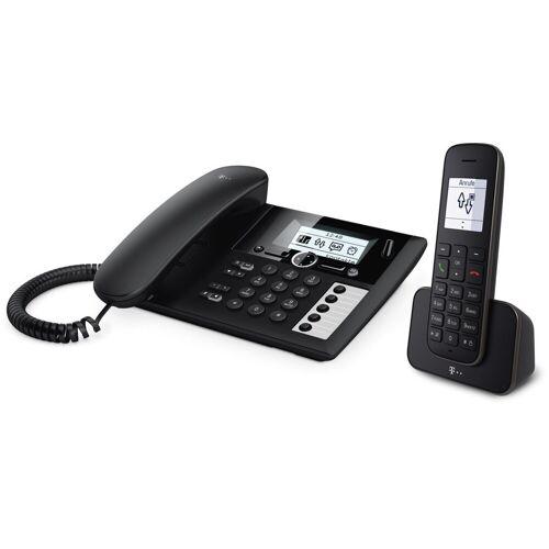 Telekom Telefon analog schnurlos »Sinus PA 207 plus 1«, Schwarz