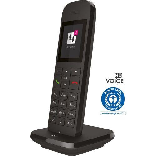 Telekom Telefon analog schnurlos »Sinus 12«, Schwarz-Braun