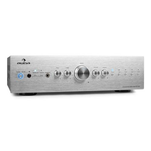 Auna CD708 Stereo-Verstärker AUX Phono Silber 600W Verstärker