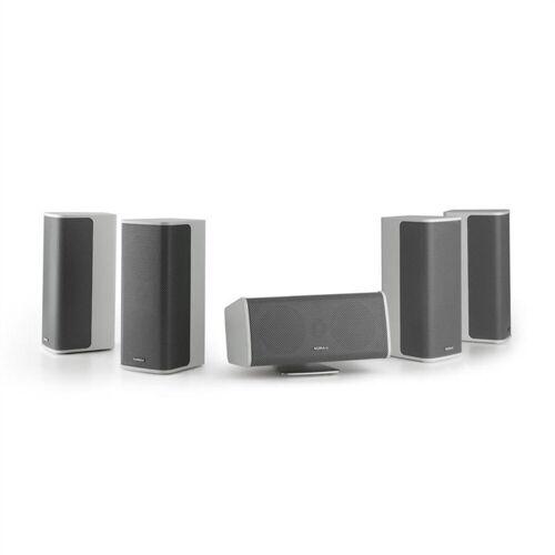 NUMAN Ambience 5.0-Lautsprecher-System weiß inkl. 30m Lautsprecherkabel Lautsprechersystem, Weiß