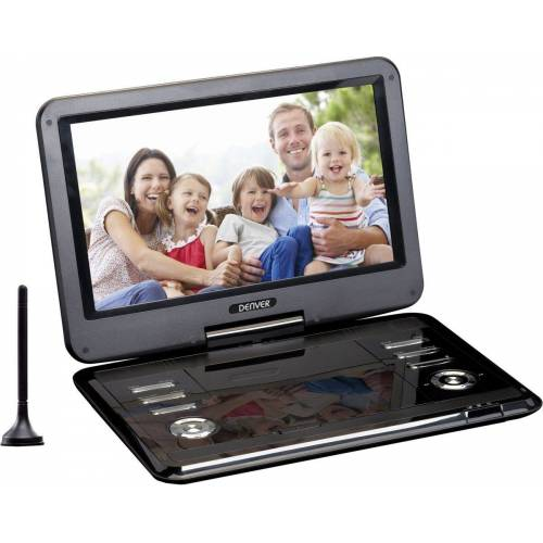Denver Portabler DVD-Player »Portabler DVD-Player MT-1150T2H mit DVB-T2-Antenne«, Schwarz