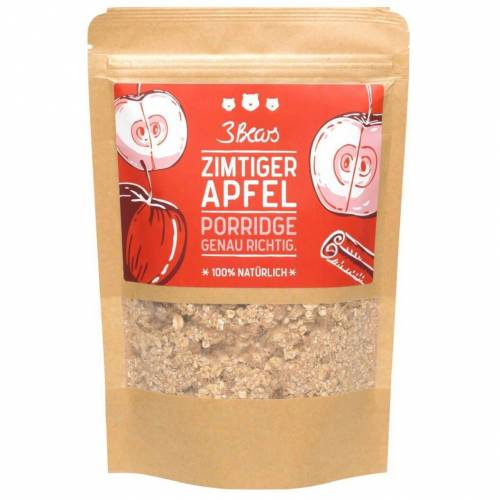 3 Bears 3Bears Zimtiger Apfel Porridge vegan