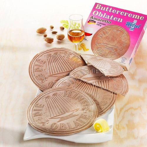 Wetzel Oblaten Buttercreme-Amaretto (Packung, 2tlg)