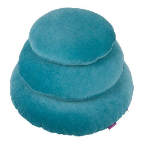 Farbenfreunde Kissenhüllen »Rund Aqua 40 cm«, (1 Stück)