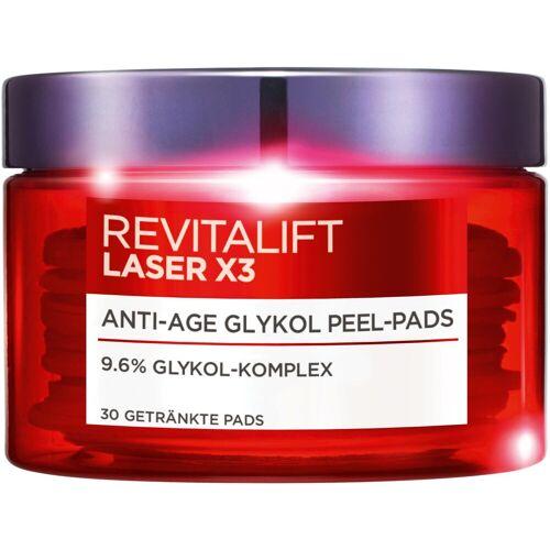 L'ORÉAL PARIS Toner »RevitaLift Laser X3 Anti-Age Glykol Pads«, Glykolsäure-Komplex mit glättenden Aktivstoffen