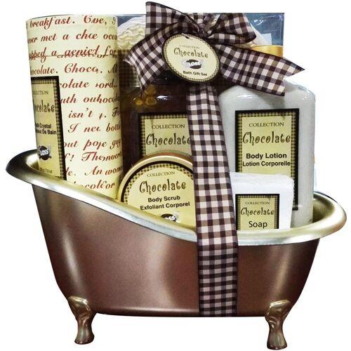 GLOSS! Geschenk-Set, 6-tlg., mit 6 Teilen und Schokoladen-Duft