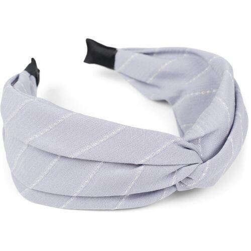 styleBREAKER Haarband »Nadelstreifen Haarreif«, 1-tlg., Nadelstreifen Haarreif, Hellblau