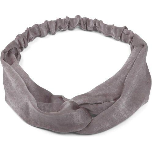 styleBREAKER Haarband »Uni Haarband mit Twist Knoten«, 1-tlg., Uni Haarband mit Twist Knoten, Grau