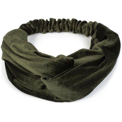 styleBREAKER Haarband »Haarband Samt mit Twist Knoten«, 1-tlg., Haarband Samt mit Twist Knoten, Oliv