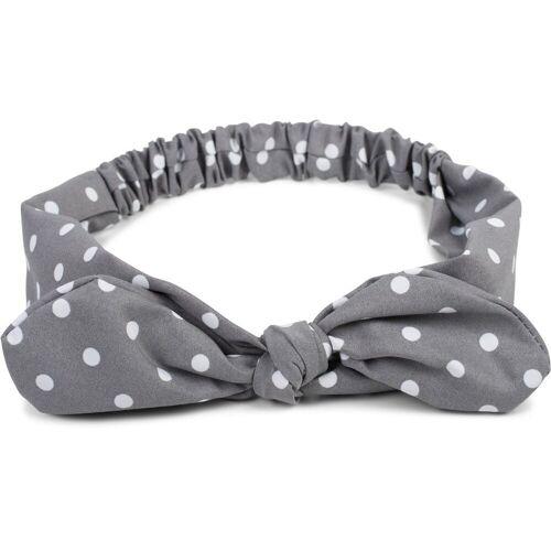 styleBREAKER Haarband »Haarband mit Punkte Muster und Schleife«, 1-tlg., Haarband mit Punkte Muster und Schleife, Grau