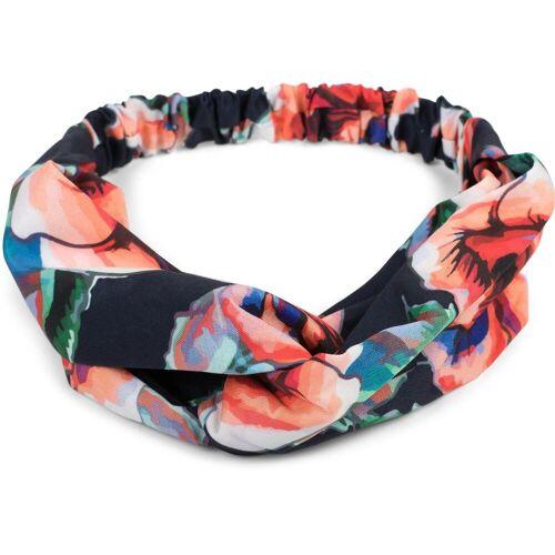 styleBREAKER Haarband »Haarband mit Blumen Muster und Twist Knoten«, 1-tlg., Haarband mit Blumen Muster und Twist Knoten, Dunkelblau