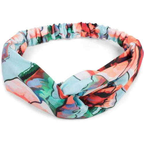 styleBREAKER Haarband »Haarband mit Blumen Muster und Twist Knoten«, 1-tlg., Haarband mit Blumen Muster und Twist Knoten, Hellblau