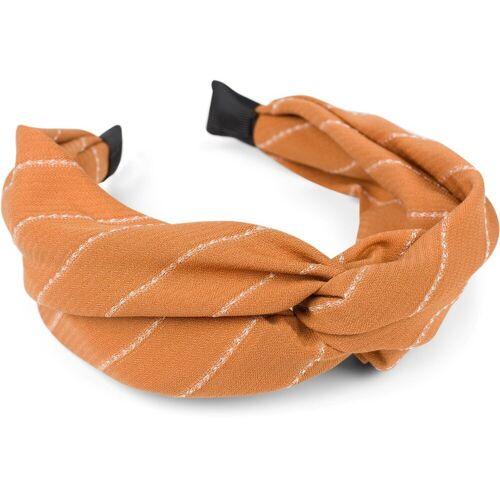 styleBREAKER Haarband »Nadelstreifen Haarreif«, 1-tlg., Nadelstreifen Haarreif, Cognac
