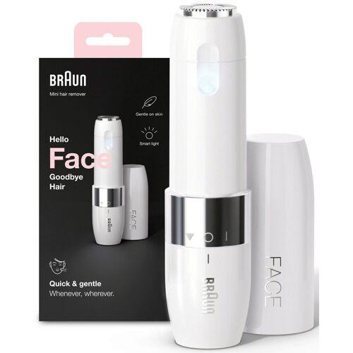 Braun Elektrogesichtshaarentferner FS1000 Face Mini-Haarentferner, Aufsätze: 1, ideal für unterwegs, mit Smartlight