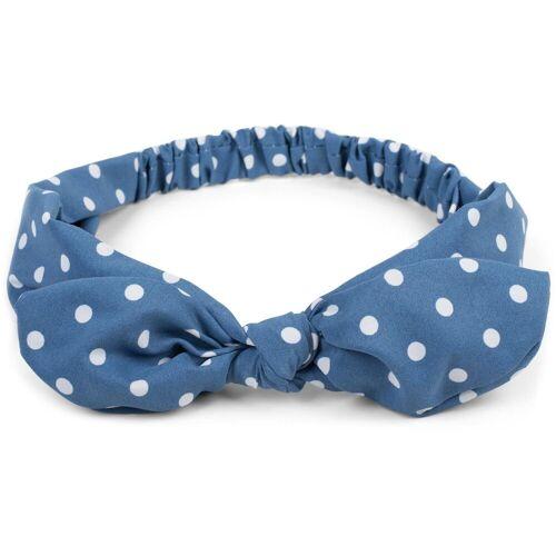styleBREAKER Haarband »Haarband mit Punkte Muster und Schleife«, 1-tlg., Haarband mit Punkte Muster und Schleife, Blau