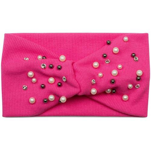 styleBREAKER Haarband »Feinripp Haarband mit Perlen und Strass«, 1-tlg., Feinripp Haarband mit Perlen und Strass, Pink