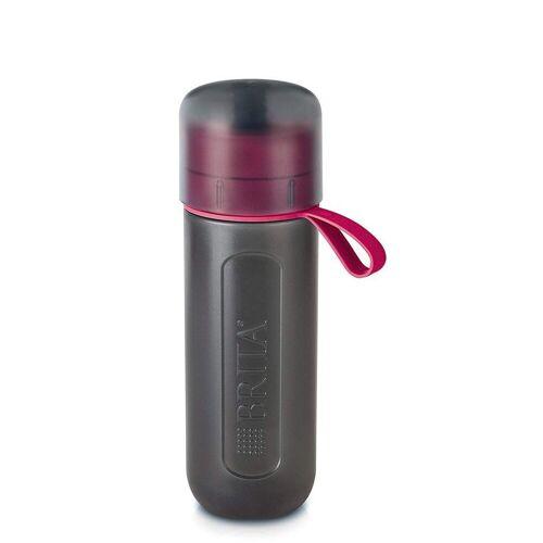 Brita Trinkflasche »fill&go Active Wasserfilter-Flasche grau/pink«