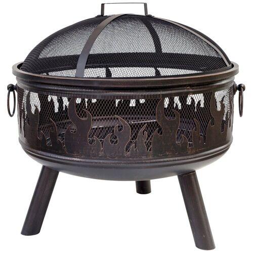 Buschbeck Feuerkorb »Wildfire« inkl. Funkenschutzhaube, bronzefarben, braun