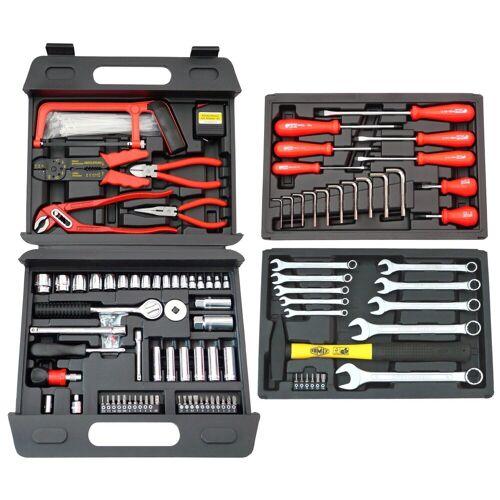 FAMEX Werkzeugkoffer »253-70«, 163-tlg. Universal-Kofferset, schwarz