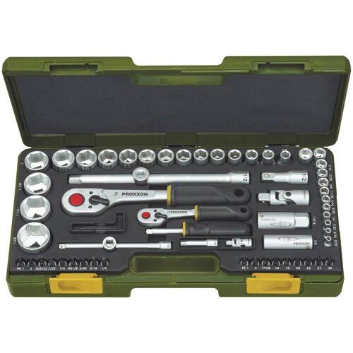 Proxxon Steckschlüsselsatz » für zöllige Schraubengrößen «, (65-tlg), grün