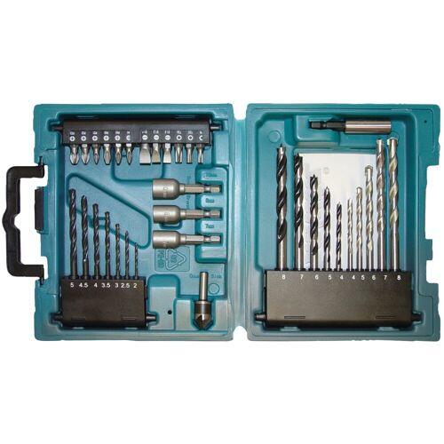 Makita Bohrer-Bit-Set »D-36980«, (34-tlg.), blau