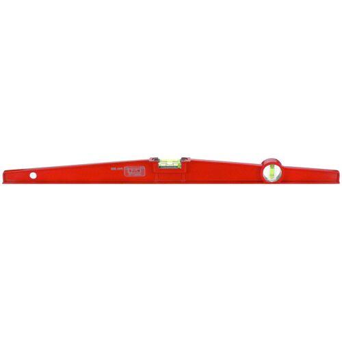 Connex Wasserwaage Trapez-Wasserwaage, 60 cm, Druckguss, rot