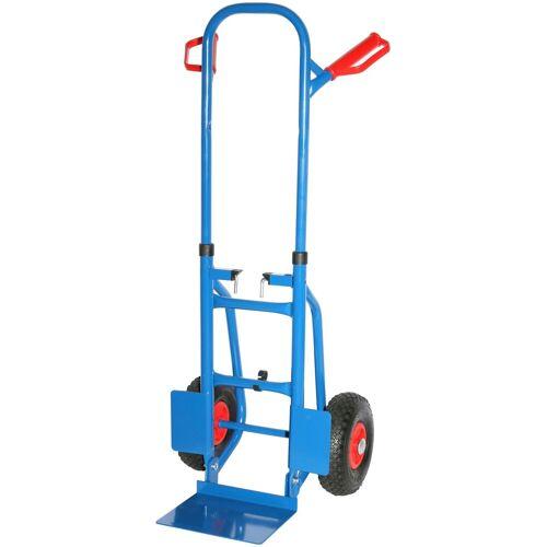 SZ METALL Sackkarre 120x50x53 cm, 250 kg, faltbar, blau