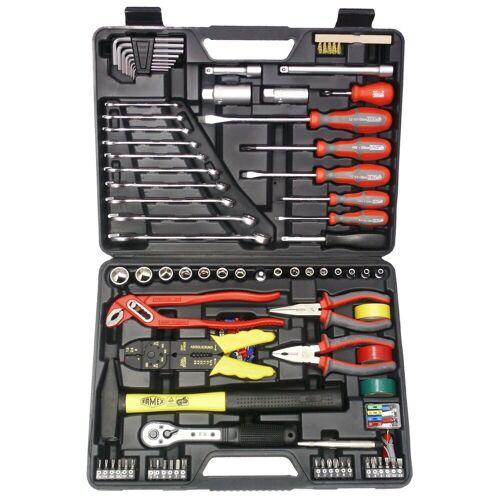 FAMEX Universal-Werkzeugkoffer, 168-teilig, schwarz