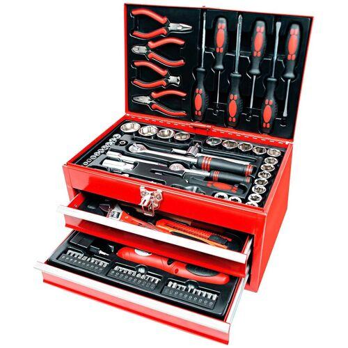 Brüder Mannesmann Werkzeuge Brueder Mannesmann Werkzeuge Werkzeugbox »155-tlg.«, rot