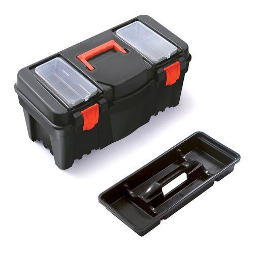 BigDean Werkzeugkoffer »Werkzeugkiste Werkzeugkasten Werkzeugbox aus Kunststoff 55 x 26,7 x 27 cm«
