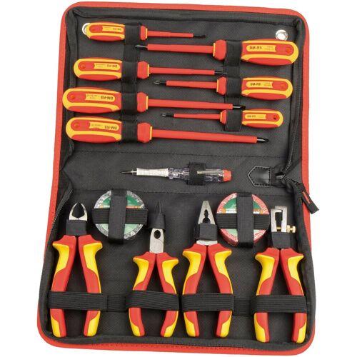 Brüder Mannesmann Werkzeuge BRUEDER MANNESMANN WERKZEUGE Werkzeugsatz 14-tlg., rot