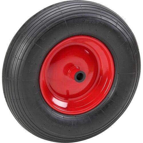 Metafranc MEISTER Ersatzrad, für Schubkarren, 400 mm, pannensicher, rot
