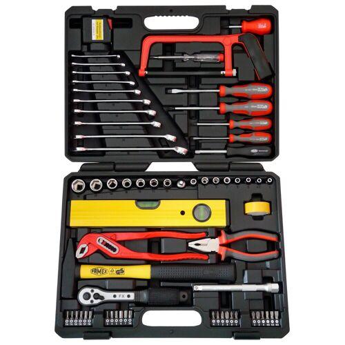 FAMEX Werkzeugkoffer »145-FX-55«, 67 tlg. Universal-Kofferset, schwarz