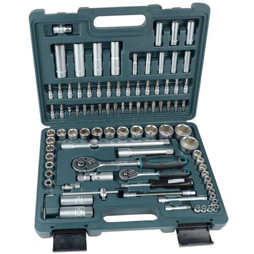 Brüder Mannesmann Werkzeuge Brueder Mannesmann Werkzeuge Steckschlüsselsatz »(94-tlg.)«, blau