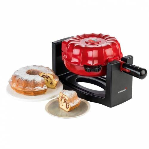 KORONA Waffeleisen 41060 Cake-Maker rot/schwarz