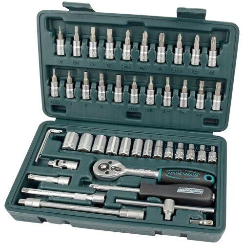 Brüder Mannesmann Werkzeuge BRUEDER MANNESMANN WERKZEUGE Steckschlüsselsatz , 46-tlg., grün