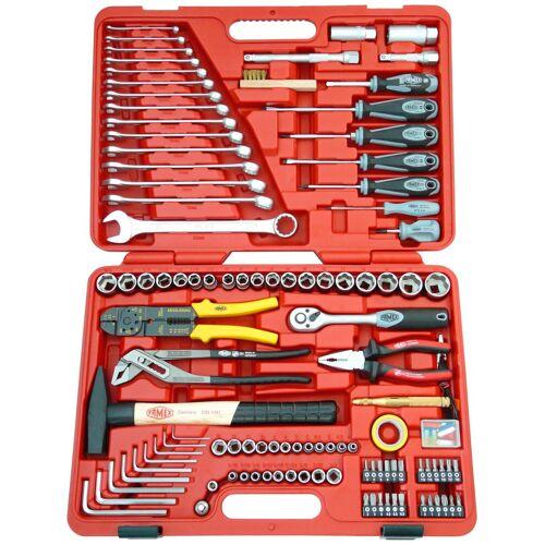 FAMEX Werkzeugkoffer »136-20«, 197-tlg. Universal-Set, geeignet für Kfz, rot