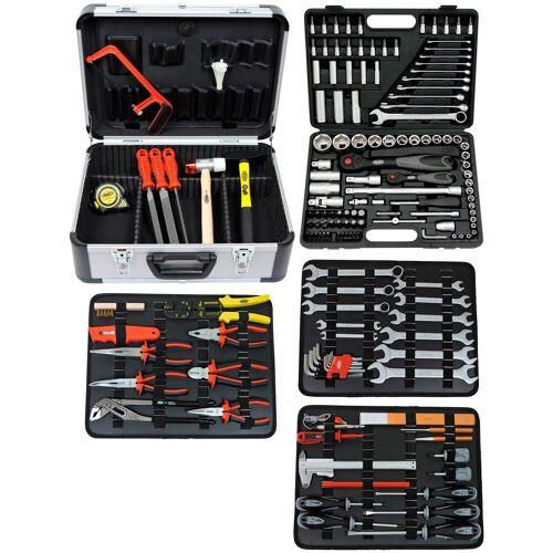 FAMEX Werkzeugkoffer »719-44«, 214-tlg., inkl. 120-tlg. Steckschlüsselsatz 4-32 mm, schwarz