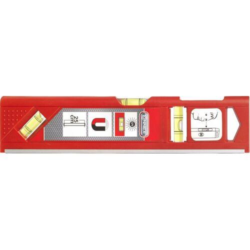 Connex CON:P Wasserwaage 25 cm, magnetisch, rot