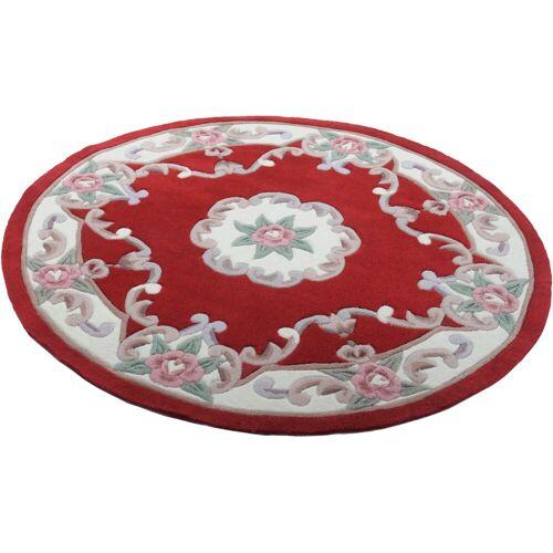 THEKO Teppich »Ming«, , rund, Höhe 14 mm, hochwertiges Acrylgarn, rot