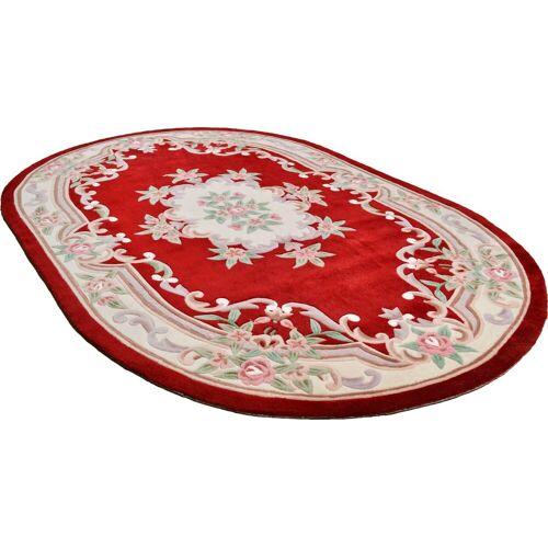 THEKO Teppich »Ming«, , oval, Höhe 14 mm, hochwertiges Acrylgarn, rot
