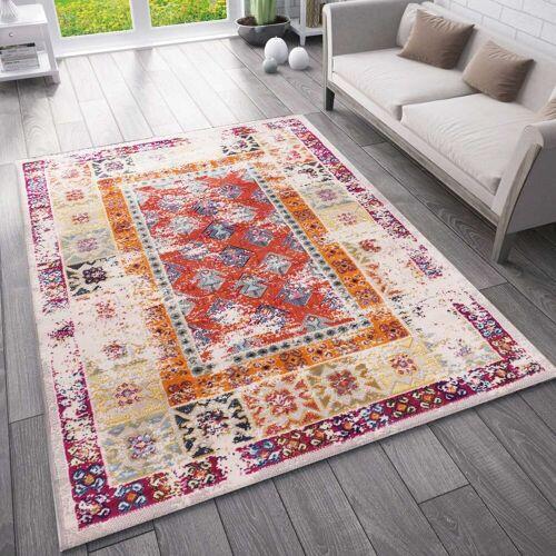 Vimoda Teppich »Ein Designer Teppich mit authentischen Vintage Look Muster«,