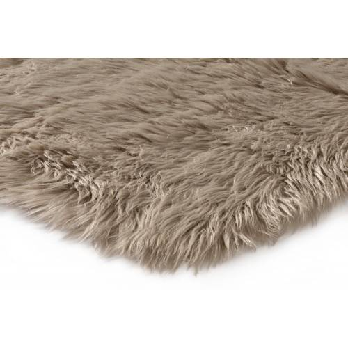 heine home Teppich Synthetik Lammfell, taupe
