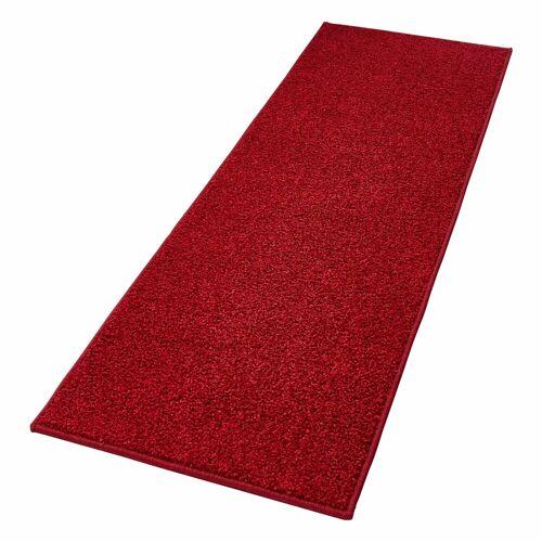HANSE Home Läufer »Pure 100«, , rechteckig, Höhe 13 mm, Velours Haptik, rot