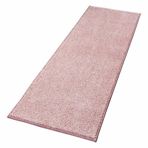 HANSE Home Läufer »Pure 100«, , rechteckig, Höhe 13 mm, Velours Haptik, rosa